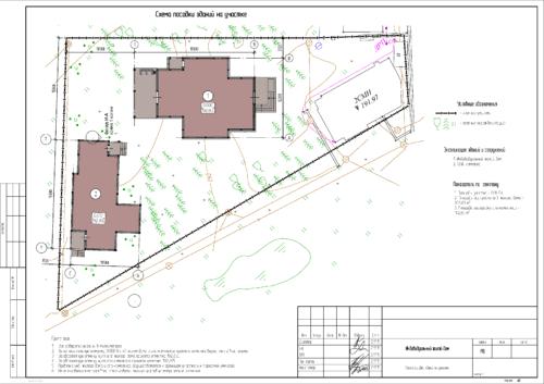 Схема посадки здания на рельеф