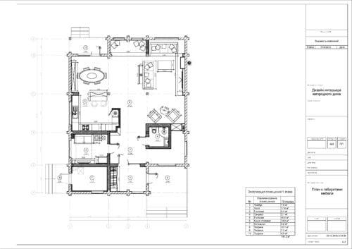 План габаритов мебели