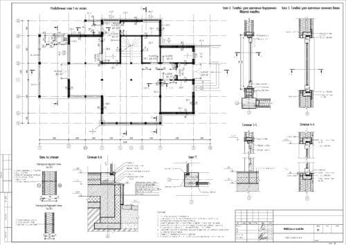 Разбивочный план 1-го этажа